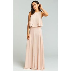 Show Me Your Mumu Chiffon Dusty Pink Bridal Set